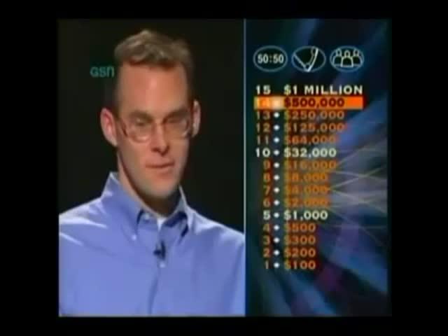 Невероятная история на шоу «Кто хочет стать миллионером?»