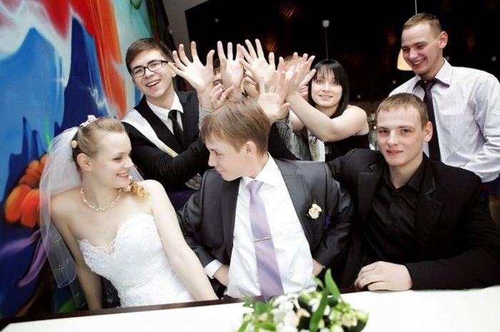 Смешные свадебные фото (40 фото)