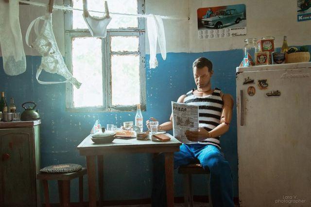 Какой была бы жизнь Барби и Кена в СССР (8 фото)