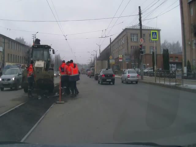 Драка дорожников в Смоленске