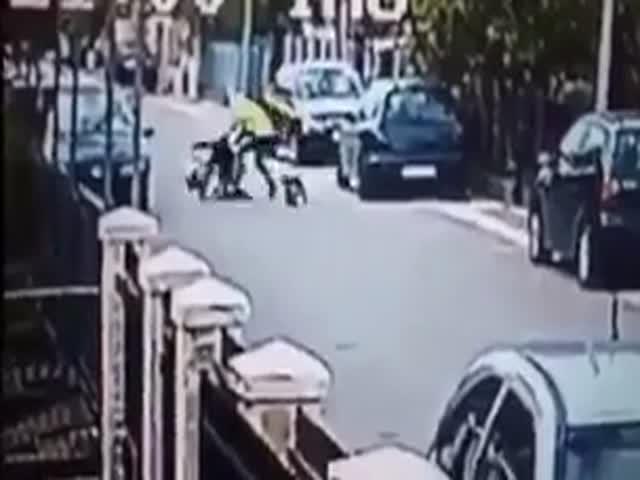 Пес спас девушку от грабителя
