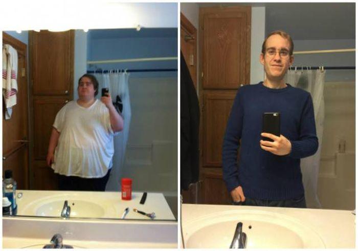 Мужчины, одержавшие победу в борьбе с лишним весом (23 фото)