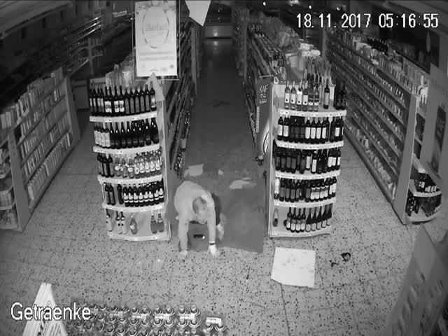 Ограбление магазина пошло не по плану