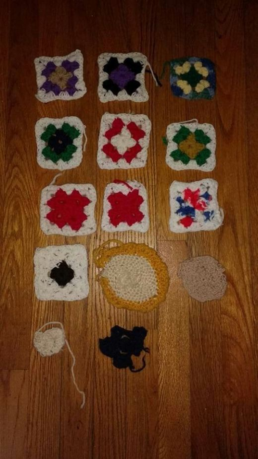 Развитие болезни Альцгеймера на примере вязания (фото)