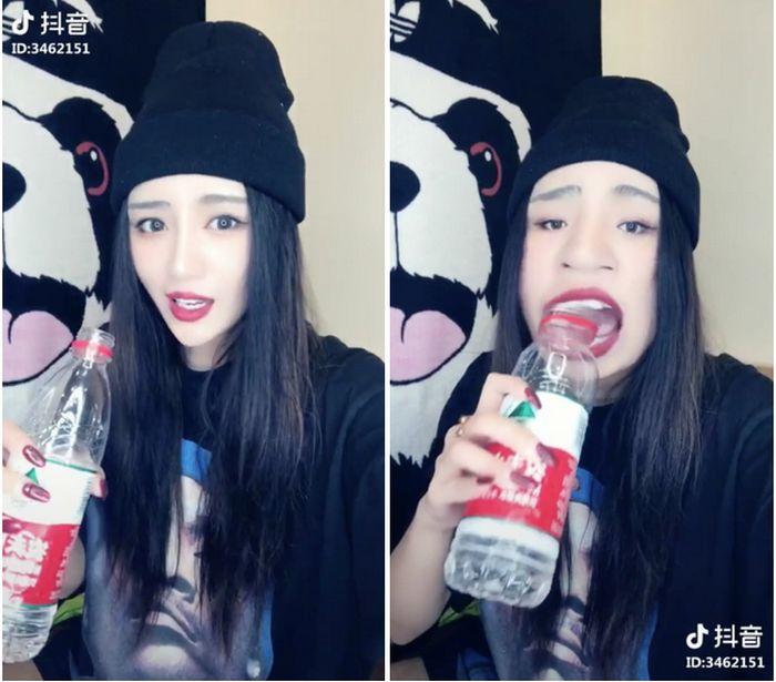 Девушки пьют и едят так, чтобы не испортить губную помаду (8 фото)