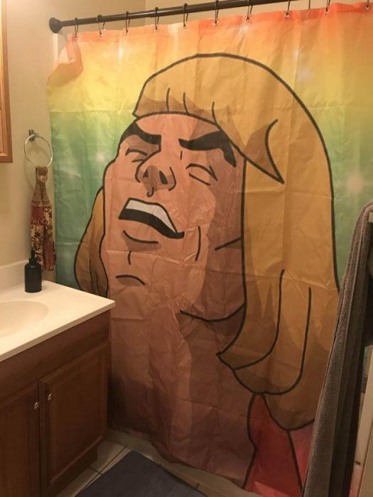 Шторы для ванн с необычными рисунками (30 фото)
