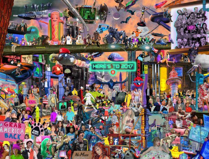 Главные события уходящего года в одной картинке (фото)