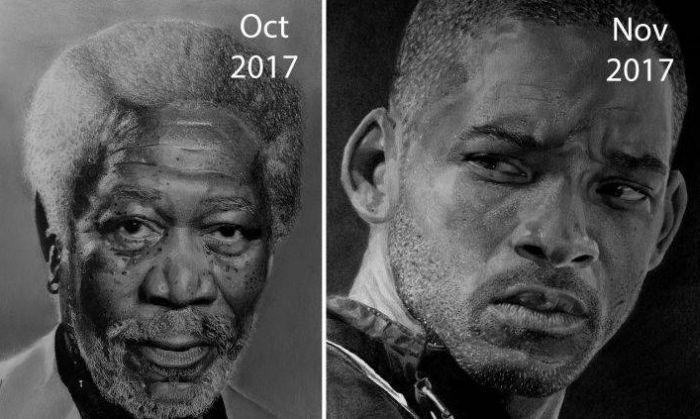 Прогресс художника в течение трех лет (6 фото)