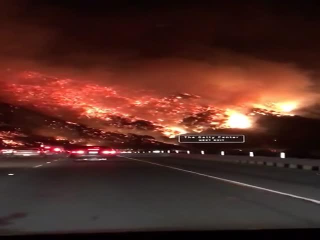 Природные пожары в Калифорнии