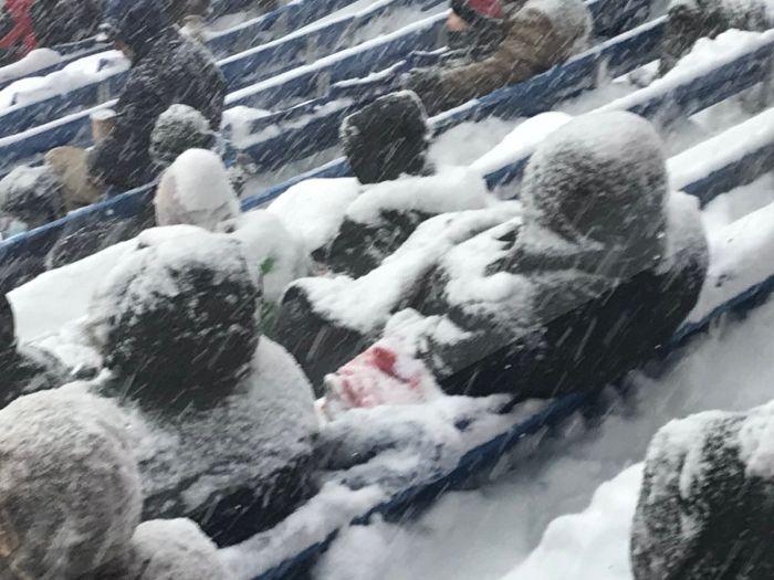 «Самый зимний» матч по американскому футболу (9 фото + видео)