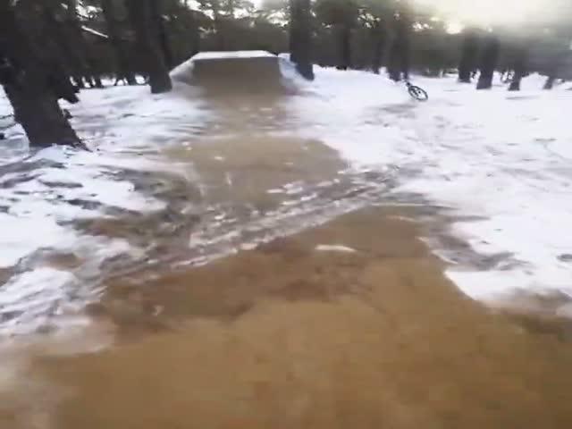 Зимние тренировки велосипедиста в Чите