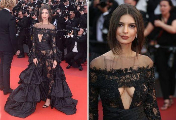 Самые запоминающиеся откровенные платья звезд в 2017 году (12 фото)