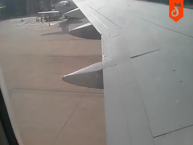 Не самое обнадеживающее зрелище перед началом полета