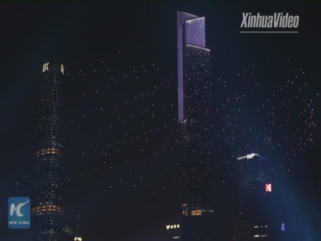 1080 дронов в небе над Гуанчжоу