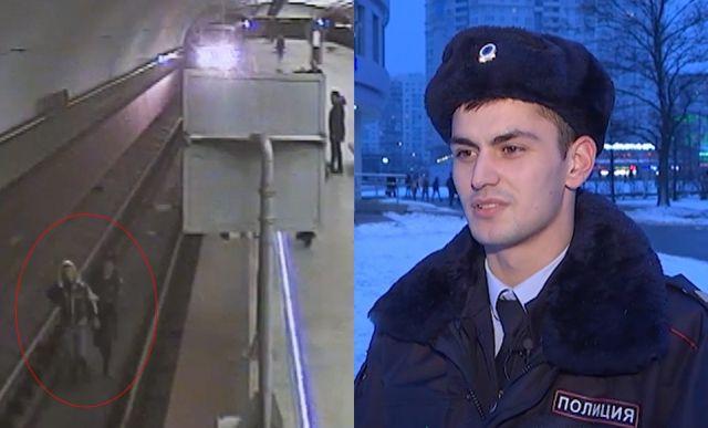 В московском метро полицейский спас упавшего на пути мужчину (фото + видео)