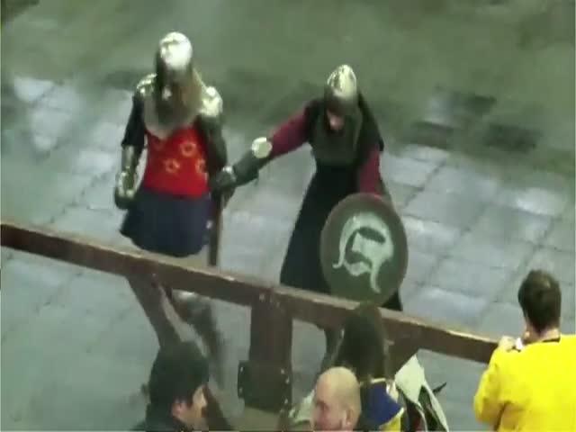 Рыцарский турнир закончился нокаутом