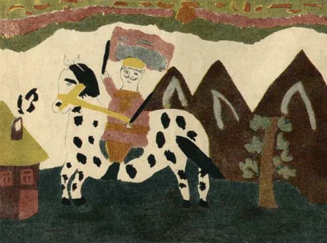 Рисунки советских детей 20-х - 30-х XX века (24 фото)