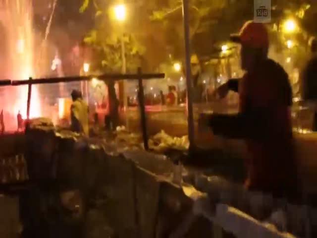 Взрыв пиротехники на карнавале в бразильском городе Ремедиос