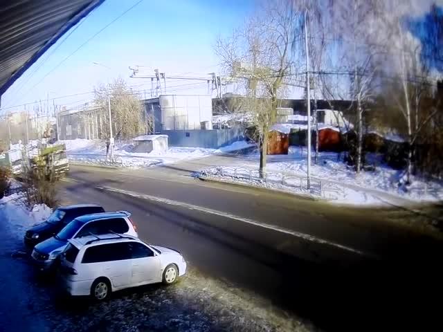 Автомобиль Subaru отправился в полет