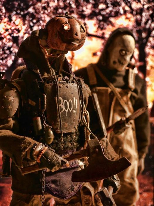 Художник создает фигурки постапокалиптических солдат (30 фото)