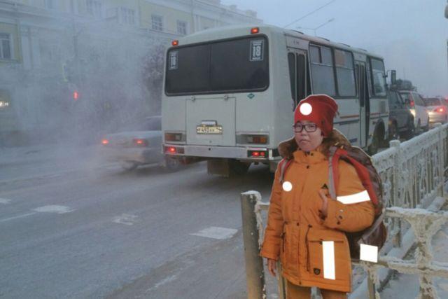 В Якутске манекены школьников помогут предотвратить наезды на пешеходов (2 фото)