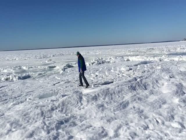 Замерзший океан в Массачусетсе