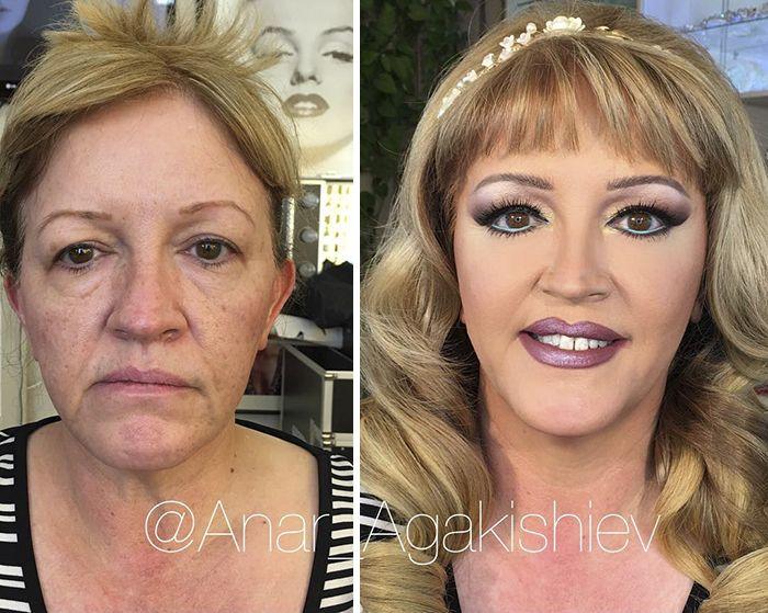 Анар Агакишиев - визажист, который заставит любую женщину выглядеть моложе (18 фото)