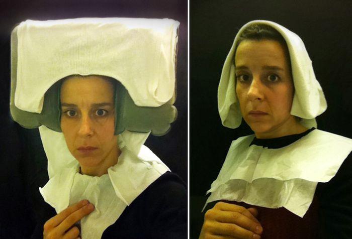 Забавные селфи в стиле портретов фламандских художников XV века от Нины Хачадурян (9 фото)