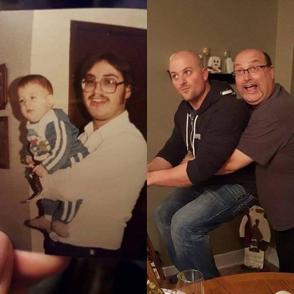 Люди воссоздают старые фото (26 фото)
