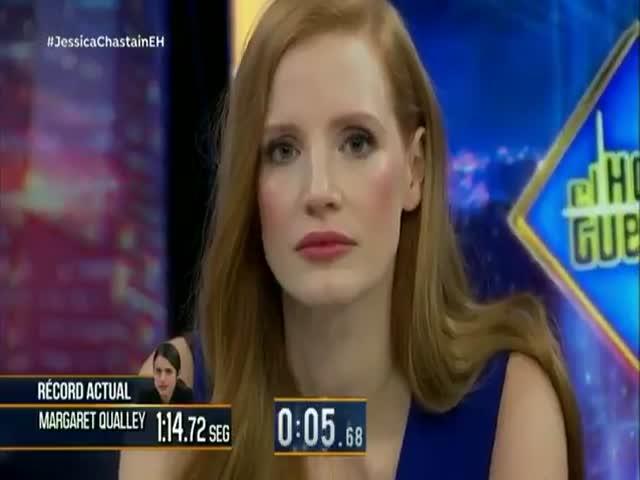 Актриса Джессика Честейн не моргала более двух минут