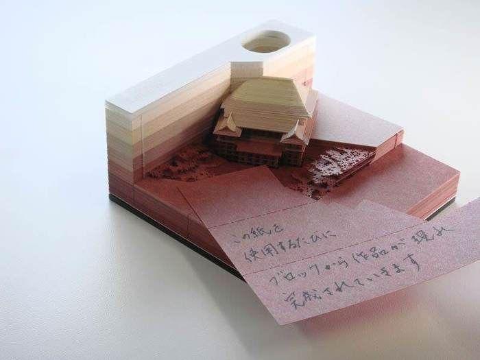 Произведение искусства из блокнота (4 фото)