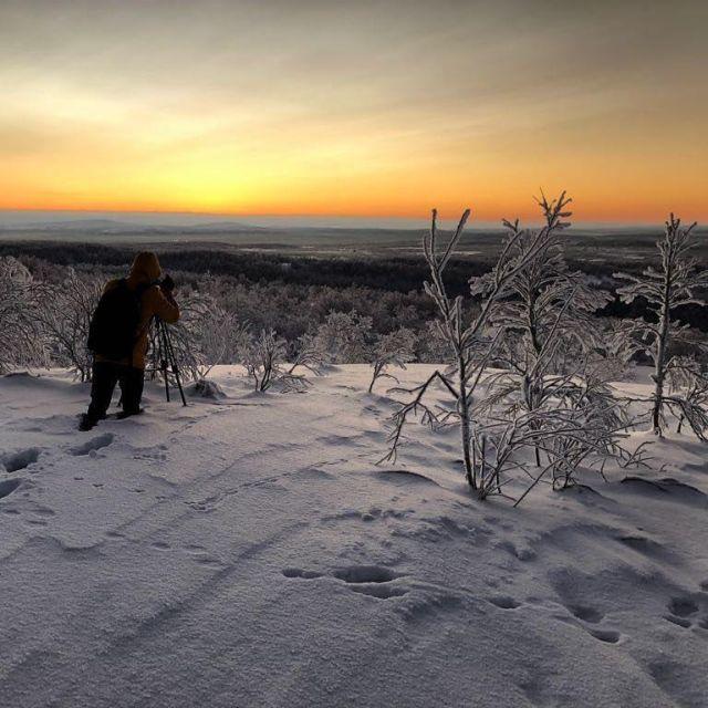 Жители Мурманска встретили первый рассвет после долгой полярной ночи (4 фото)
