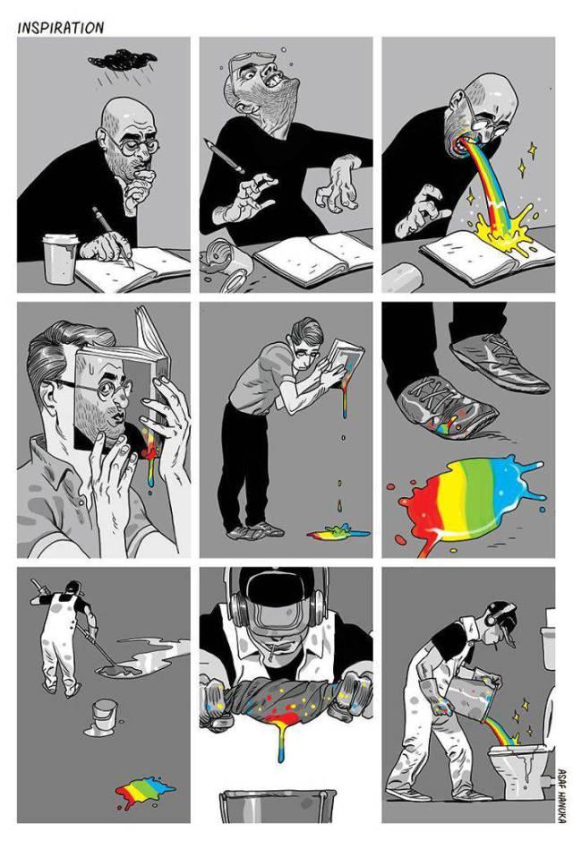 Социальные комиксы Асафа Хануки (38 фото)