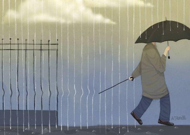 Иронические рисунки художника Андрея Попова (22 картинки)