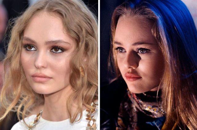 Знаменитости, которые являются точными копиями своих родителей в молодости (10 фото)