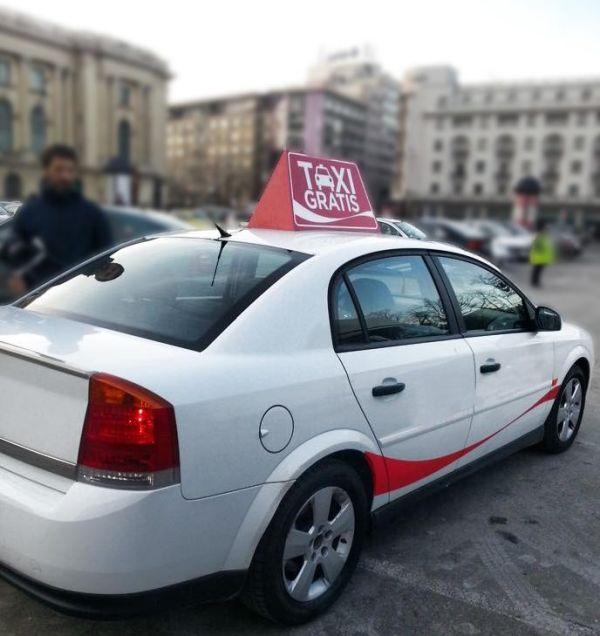 В Бухаресте появилось «Бесплатное такси» (2 фото)