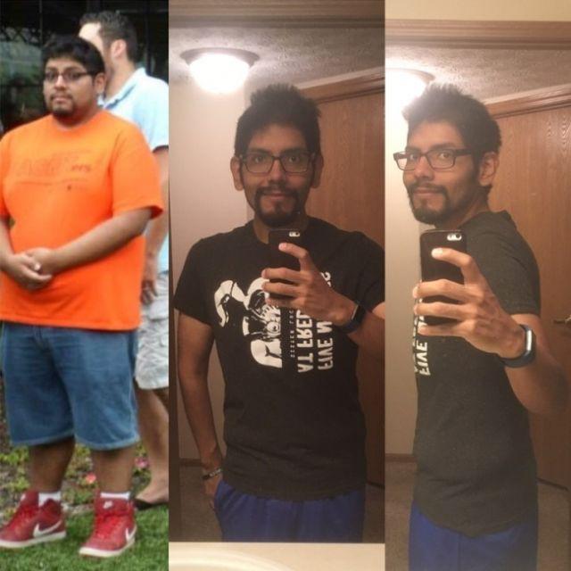 Парни побороли лишний вес (23 фото)