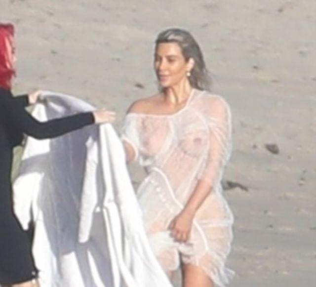 Папарацци опубликовали интимные фото Ким Кардашян (8 фото)