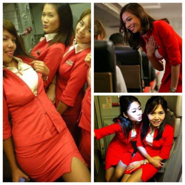Форма стюардесс авиакомпании Air Asia возмутила пассажирку (6 фото)