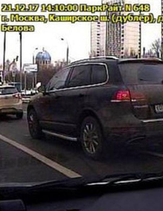 Московского автомобилиста оштрафовали за неправильную парковку, когда он стоял в пробке (2 фото)