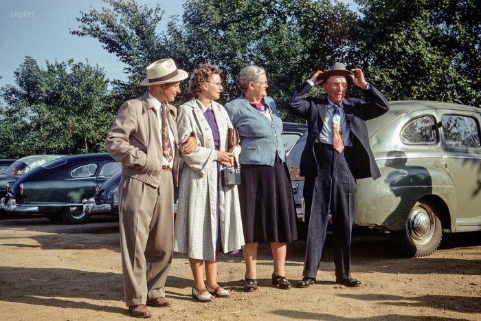 Америка 50-х годов в цветных фото (48 фото)