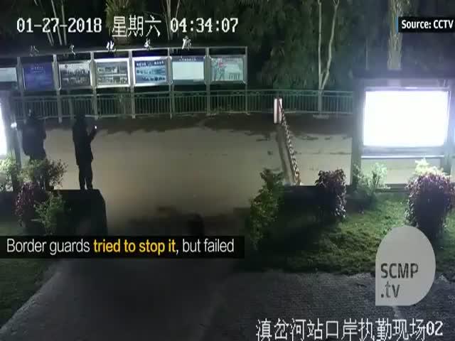 Китайские таможенники побоялись останавливаться нарушителя границы