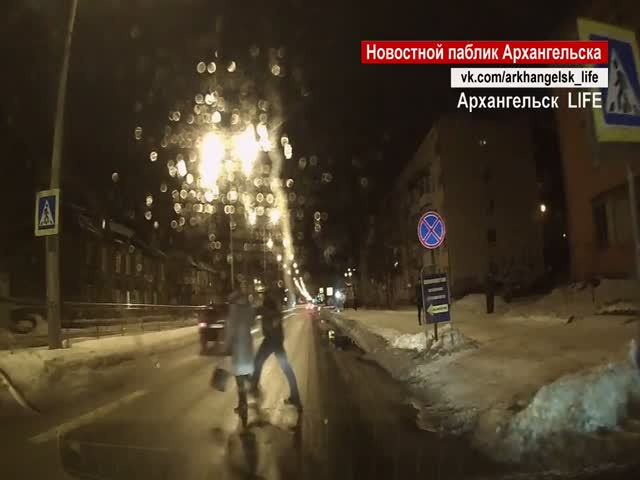 Пешеход наказал водителя