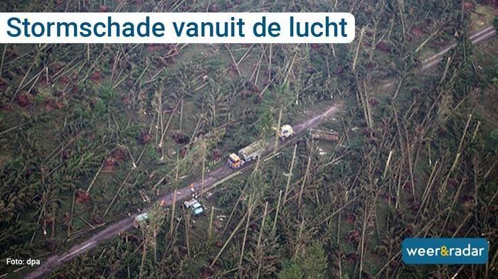 Последствия урагана в Германии (6 фото)