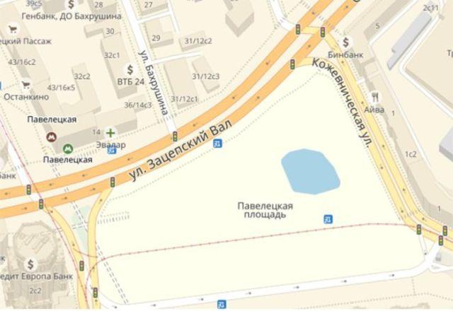 Сервис Яндекс.Карты добавил еще один водоем на карту Москвы (2 фото)