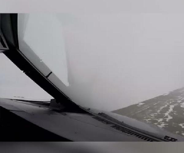 Посадка при снегопаде