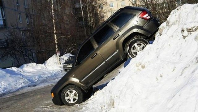 Мощные снегопады бывают не только в Москве (10 фото)