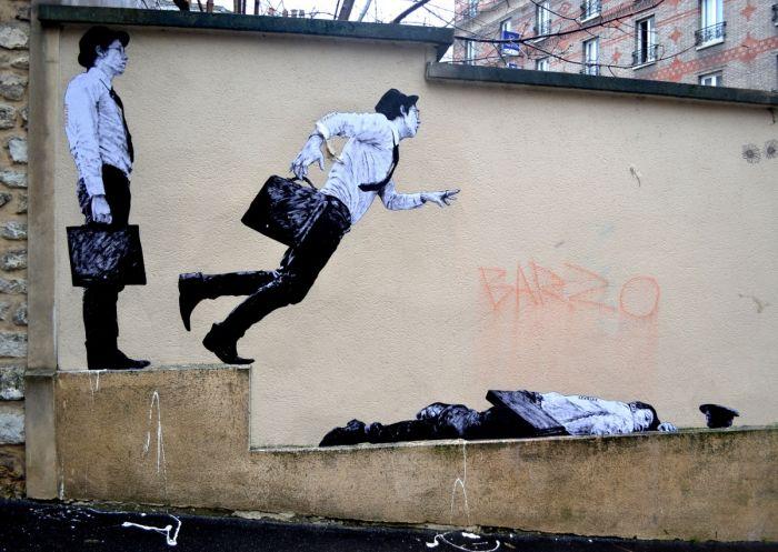 Стрит-арт от Чарльза Леваля (35 фото)