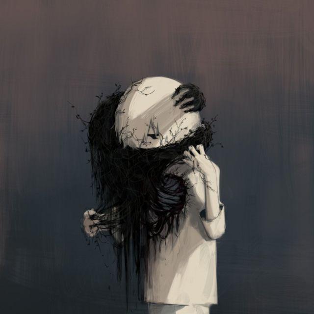 Сложные чувства в картинках японского художника (21 рисунок)