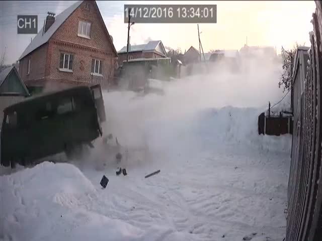 Ледяная горка в Пензе